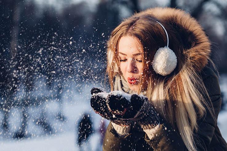 winter russian woman