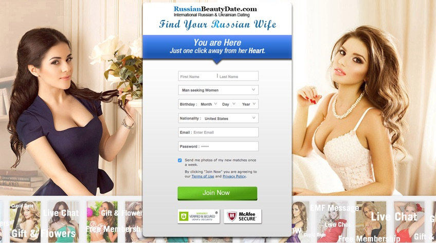 RussianBeautyDate - site for wife search